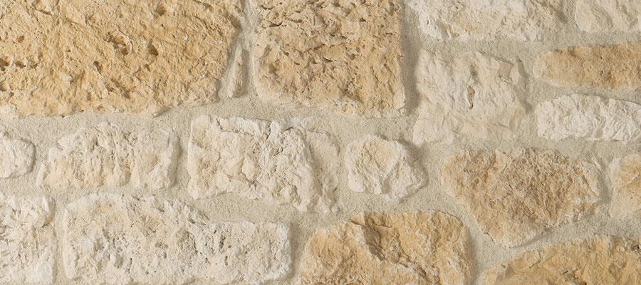 Plaquette de parement aspect pierre vieillie MANOIR - ORSOL