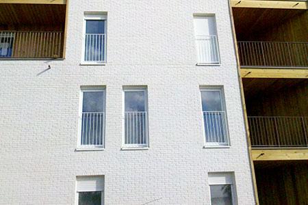 Façade immeuble habitation eco-quartier