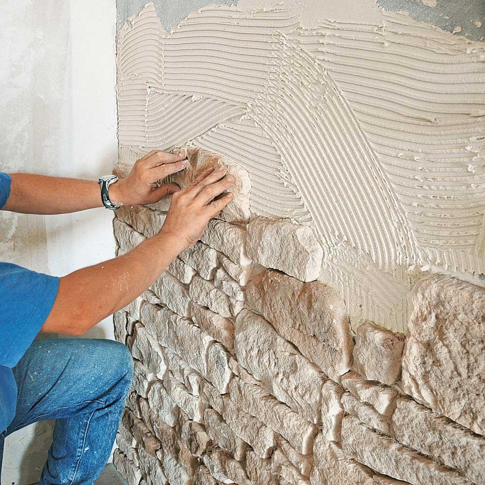 Mur Parement Interieur Ardoise diy : comment poser soi-même un parement à jointoyer ? - orsol