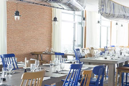 Murs d'un restaurant, Club Med de Grand Massif Samoëns Morillon